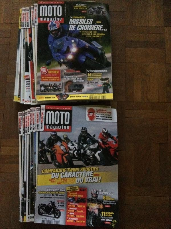 Recyclage, Récupe & Don d'objet : lot de moto magazines