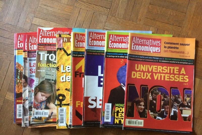 Recyclage, Récupe & Don d'objet : lot de magazines alternatives economiques