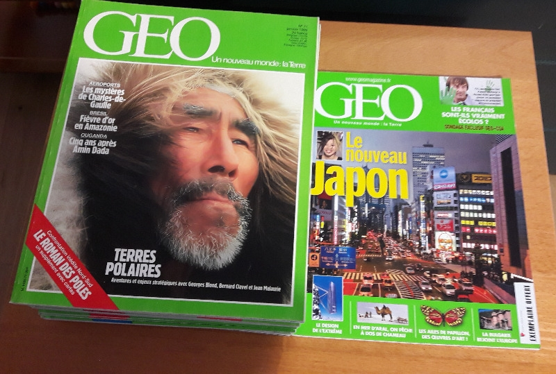 Recyclage, Récupe & Don d'objet : magasines geo