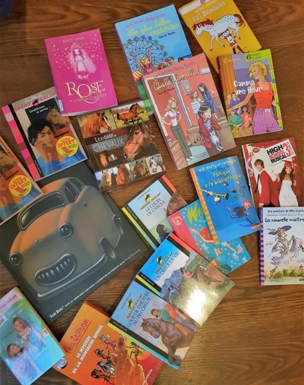Recyclage, Récupe & Don d'objet : lot de livres pour enfants de 5 à 12 ans (...