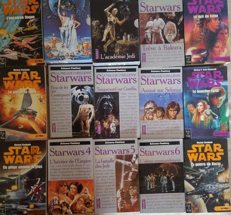 Recyclage, Récupe & Don d'objet : 19 livres starwars