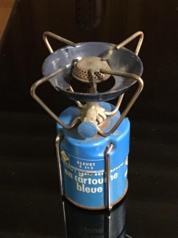 Recyclage, Récupe & Don d'objet : réchaud camping gaz «bleuet»