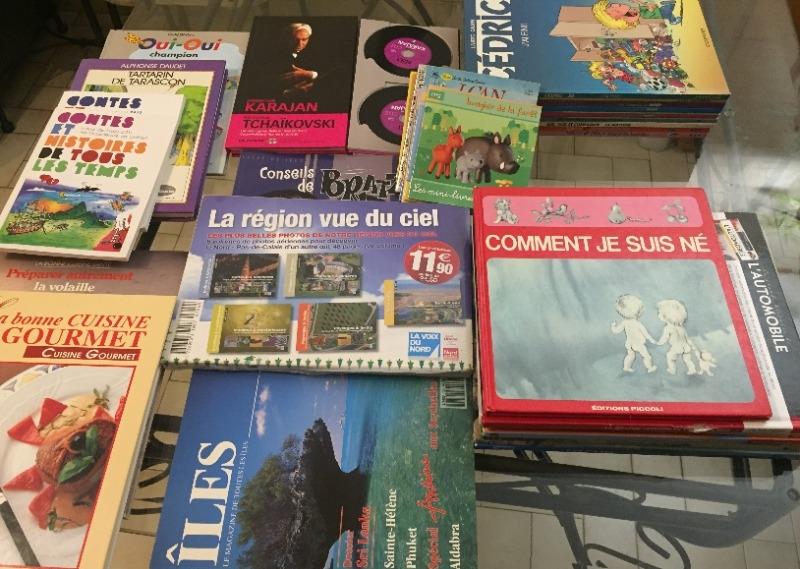 Recyclage, Récupe & Don d'objet : divers livres et magazines