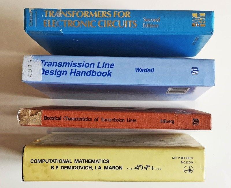 Recyclage, Récupe & Don d'objet : livres de mathématique et d'électrotechniq...