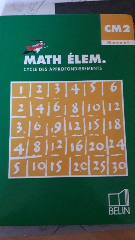 Recyclage, Récupe & Don d'objet : manuel scolaire mathématiques