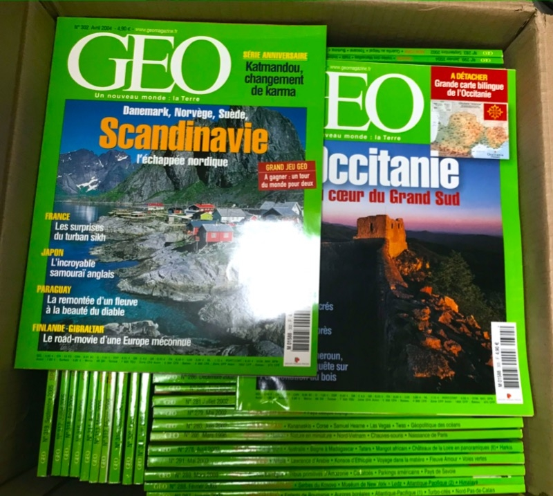 Recyclage, Récupe & Don d'objet : magazines geo et national geographic
