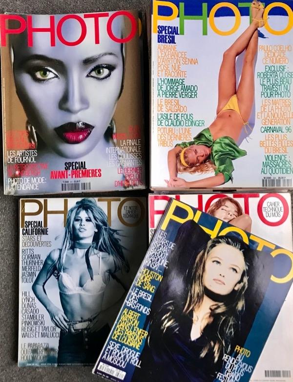 Recyclage, Récupe & Don d'objet : lot 83 magazines photo 1987-1997