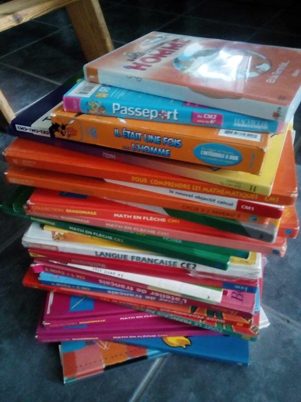 Recyclage, Récupe & Don d'objet : manuels scolaire du ce1 au cm2