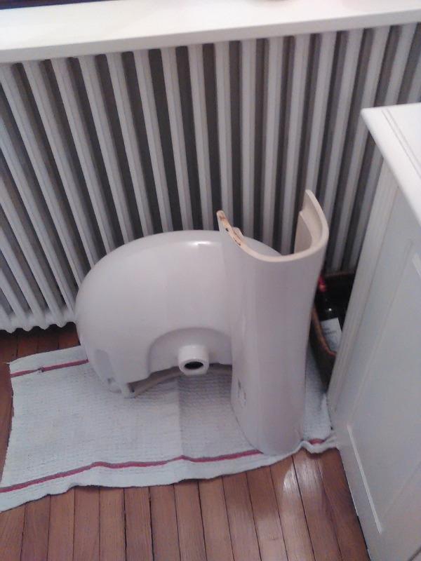 Recyclage, Récupe & Don d'objet : Lavabo avec colonne