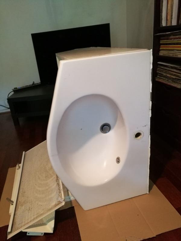 Recyclage, Récupe & Don d'objet : Meuble lavabo de salle de bains
