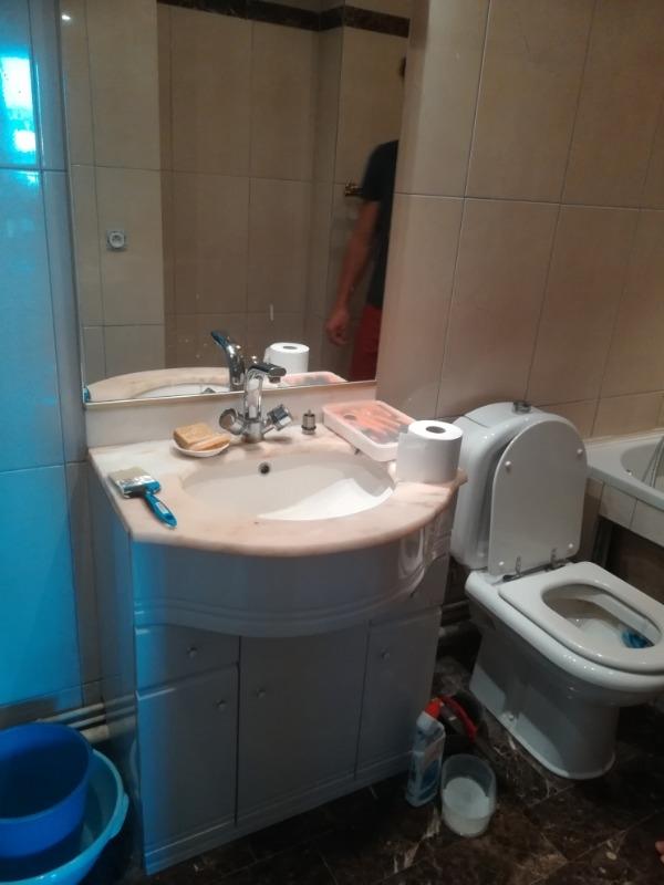 Recyclage, Récupe & Don d'objet : Meuble vasque avec plan travail en marbre 70cm