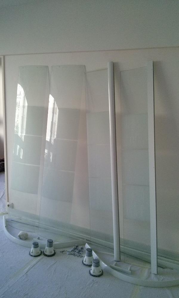 Recyclage, Récupe & Don d'objet : Cabine de douche verre portes coulissantes 90x90...