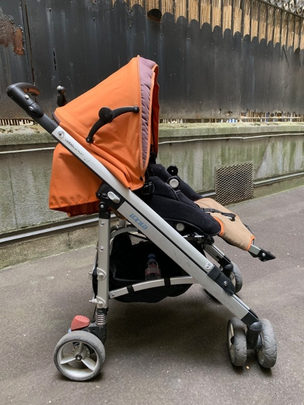 Recyclage, Récupe & Don d'objet : poussette bébé confort orange/marron