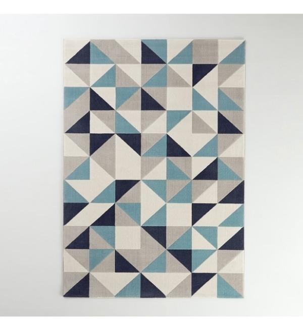 Recyclage, Récupe & Don d'objet : Tapis bleu type scandinave 160x230