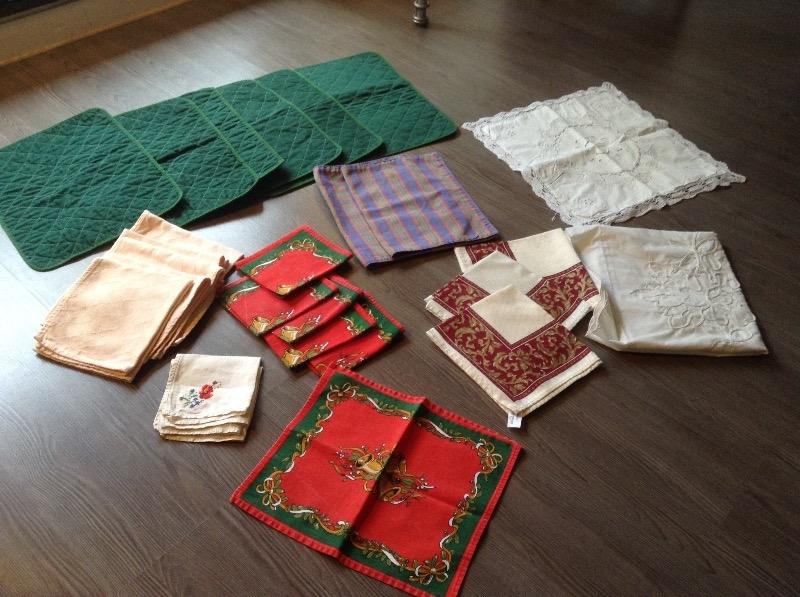 Recyclage, Récupe & Don d'objet : Taies d'oreillers, nappes, set de table