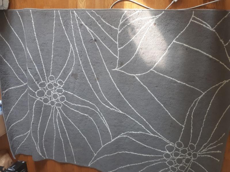 Recyclage, Récupe & Don d'objet : Tapis gris avec lignes blanches