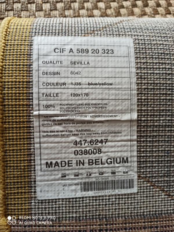 Recyclage, Récupe & Don d'objet : Tapis polypropylene 1m20 / 1m79