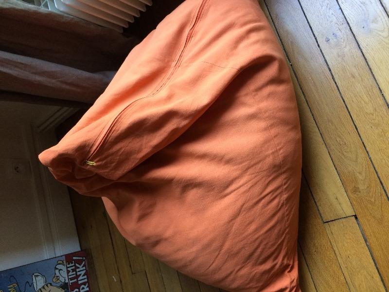 Recyclage, Récupe & Don d'objet : Pouf poire orange