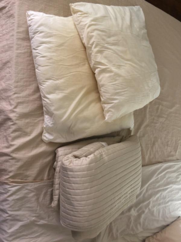 Recyclage, Récupe & Don d'objet : 2 oreillers et 1 plaid