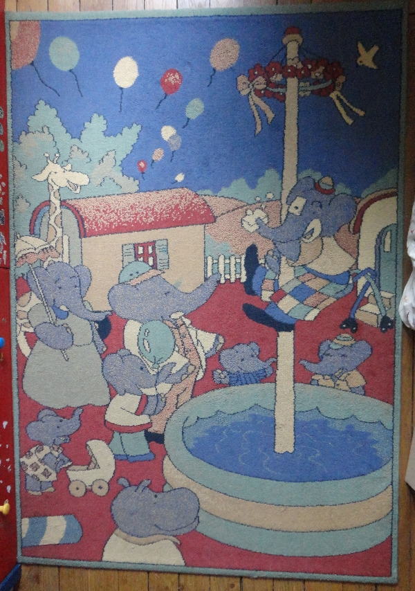Recyclage, Récupe & Don d'objet : Tapis dessin Babar