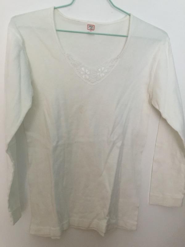 Recyclage, Récupe & Don d'objet : chemise sous-vêtement 44