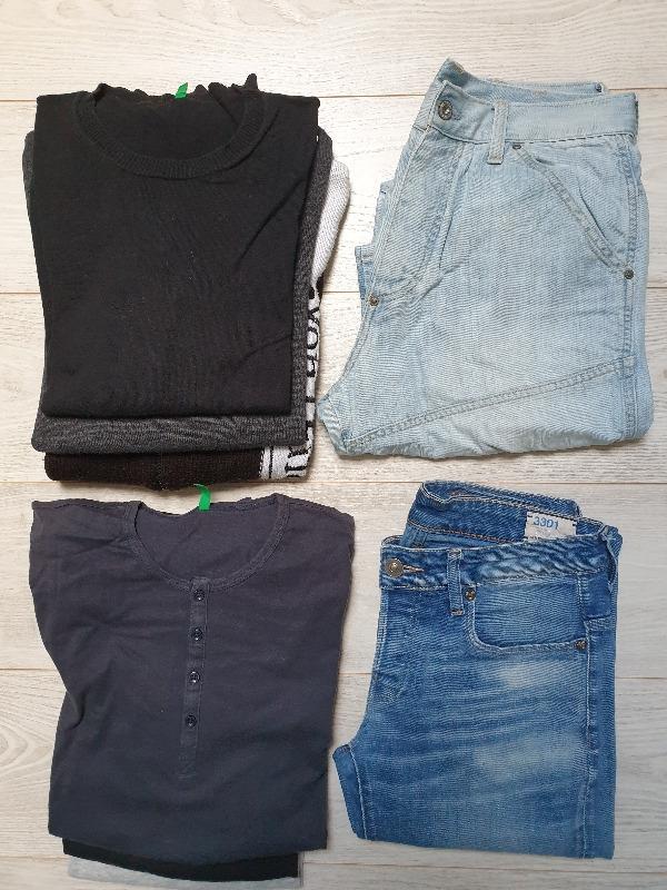 Recyclage, Récupe & Don d'objet : lot vêtements basiques - homme taille m