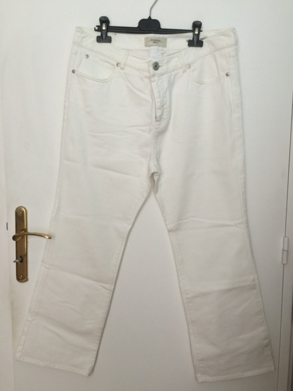 Recyclage, Récupe & Don d'objet : 2 pantalons blancs taille 48